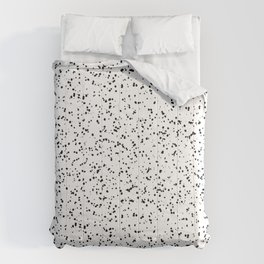 Speckles I: Double Black on White Comforters