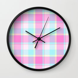 Summer Plaid Wall Clock
