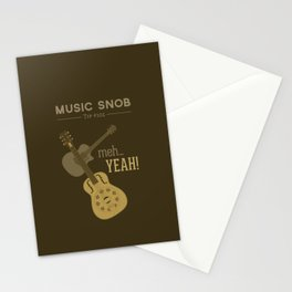Yeah or Meh: The Acoustic Guitar — Music Snob Tip #102 Stationery Cards
