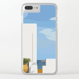 Postcards from Paradise Clear iPhone Case