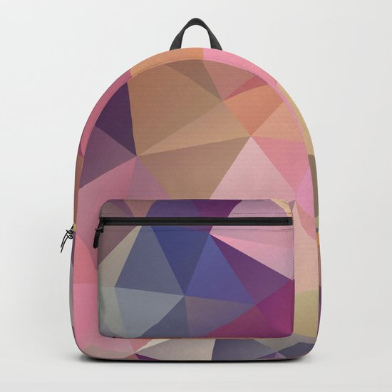 Abstract of triangles polygon in multicolor Backpack