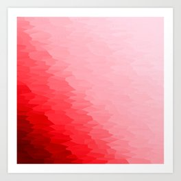 Red Texture Ombre Art Print