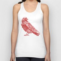 raven Tank Tops featuring Red Raven  by Terry Fan