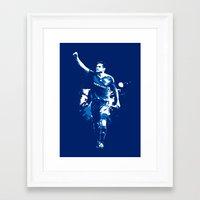 chelsea fc Framed Art Prints featuring Frank Lampard - Chelsea FC by Søren Schrøder