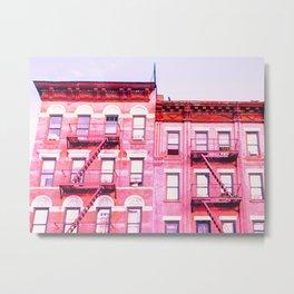 New York City Pink Buildings Metal Print