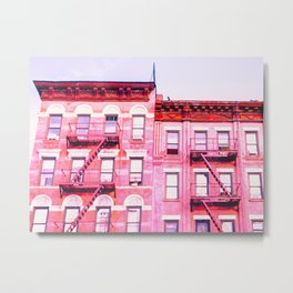 New York City Pink Buildings Metal Print