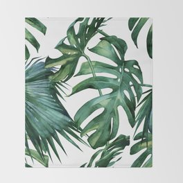 Simply Island Palm Leaves Throw Blanket