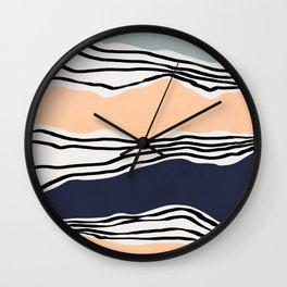 Modern irregular Stripes 08 Wall Clock