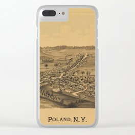 Aerial View of Poland, New York (1890) Clear iPhone Case