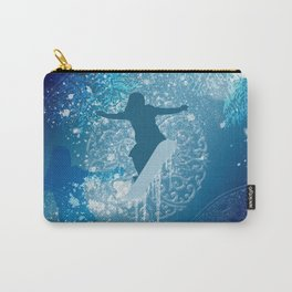 Snowboarder Carry-All Pouch