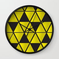 triforce Wall Clocks featuring Triforce  by Stephanie Williams