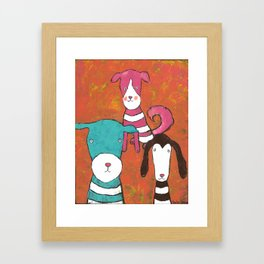 Rosie, Tyler and Montgomery Framed Art Print
