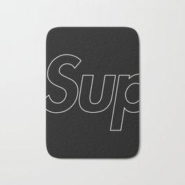 Supreme Outline Black Bath Mat