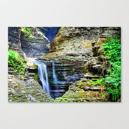 And So the Water Moves Canvas Print