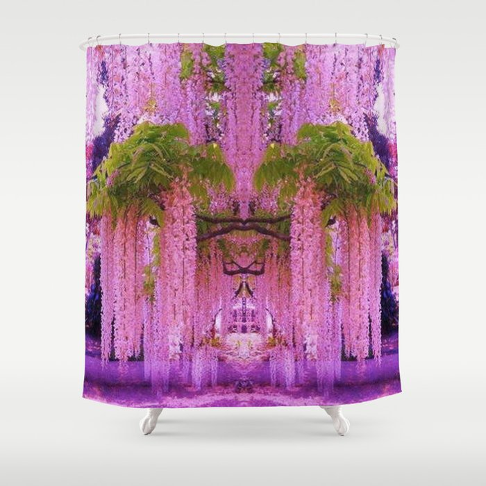 Wisteria Gardens Japan Shower Curtain