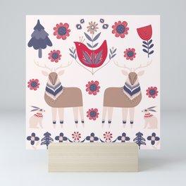 Scandinavian Winter Pattern Beige #society6 #buyart Mini Art Print