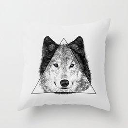 Trinity Wolf Throw Pillow