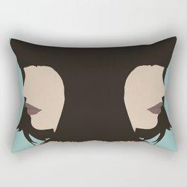 Cara - a modern, minimal abstract portrait of a woman Rectangular Pillow