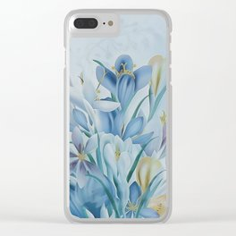 Lovely Spring Crocus Clear iPhone Case