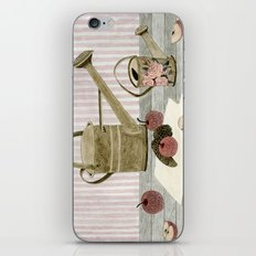 Watering Cans and Apples iPhone Skin