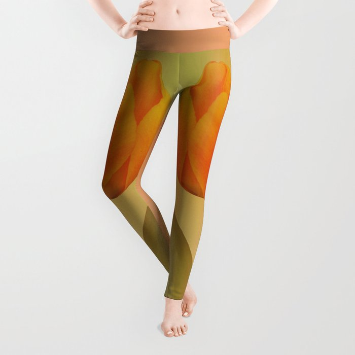 Head-to-Head, mixed media art with elegant Tulips Leggings