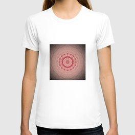 Blush Pink Textured Flower Mandala T-shirt