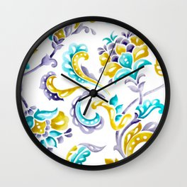 Hand-Painted Scroll Wall Clock