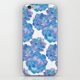 Rosette Succulents – Blue Palette iPhone Skin