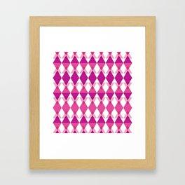 Pink Triangle Pattern Framed Art Print