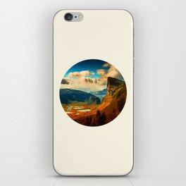 Orange Cliff Blue Sky iPhone Skin