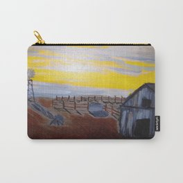Empty Barnyard with Yellow Sky Carry-All Pouch