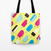 popsicle Tote Bags featuring Popsicle by Sher Mavro ART