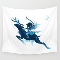 archer Wall Tapestries featuring Elf Archer by Freeminds