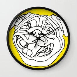Hug a Sunny Pug Wall Clock