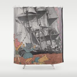 shy babies Shower Curtain