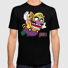 Super Wario Bros. 3 LARGE Black Mens Fitted Tee