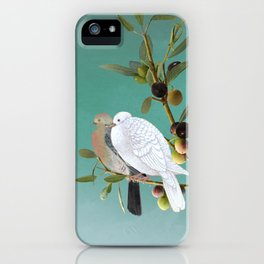 Doves in Olive Tree iPhone Case