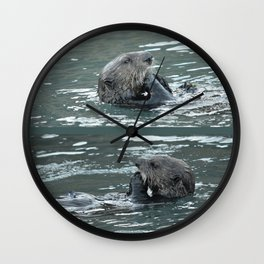 Crustacean Dinner Wall Clock