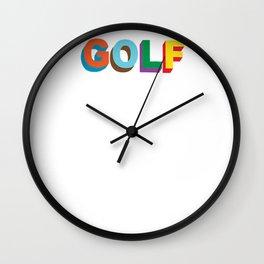 Golf Wang Wall Clock