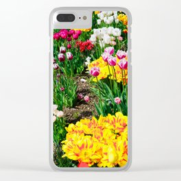 Tulips in Color Clear iPhone Case