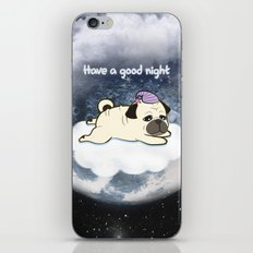 Sleepy Little Pug iPhone & iPod Skin