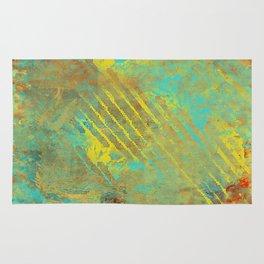Shredded Sky Abstract Rug