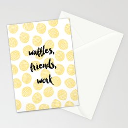 Waffles for Life Stationery Cards