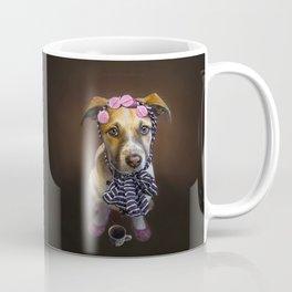 Curlers and Coffee and Puppy Dog Eyes Coffee Mug