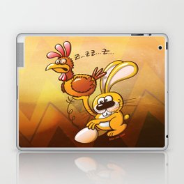 Easter Bunny Stealing an Egg from a Hen Laptop & iPad Skin