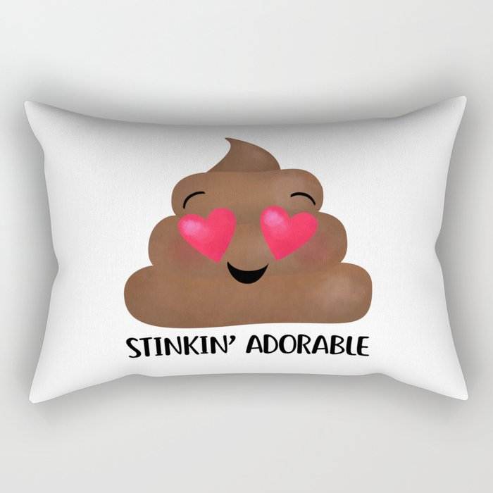 Stinkin' Adorable - Poop Rectangular Pillow