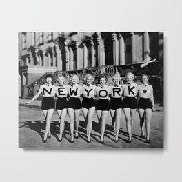 NYC Broadway Chorus Line, New York City black and white photograph Metal Print