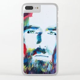 Colorful Creator Jesus Christ Painting Clear iPhone Case