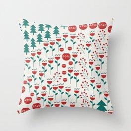 Christmas surprise pattern Throw Pillow