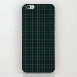 Green and Blue Plaid iPhone Skin